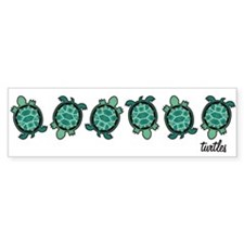 Turtle Town Bumper Car Sticker