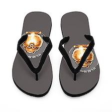 Orange Pomeranian IAAM Flip Flops