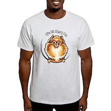 Orange Pomeranian IAAM T-Shirt
