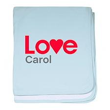 I Love Carol baby blanket