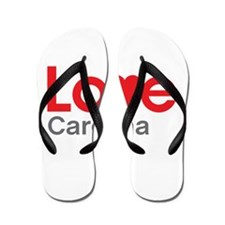 I Love Carolina Flip Flops
