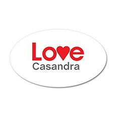 I Love Casandra Wall Decal