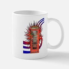 British Red Telephone Box Art Mug