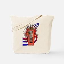 British Red Telephone Box Art Tote Bag
