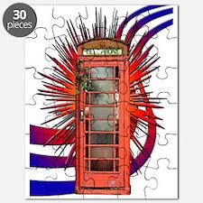 British Red Telephone Box Art Puzzle