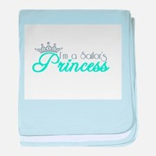 I'm a sailor's Princess!! baby blanket