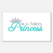 I'm a sailor's Princess!! Sticker (Rectangle)