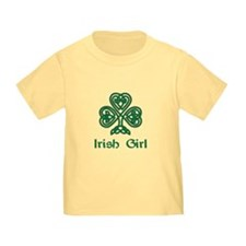 Irish Girl Knotwork Shamrock T-Shirt