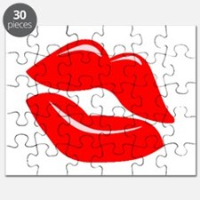 Red Kissy Lips Puzzle