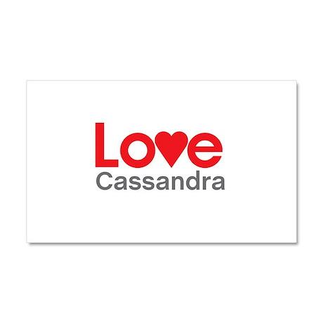 I Love Cassandra Car Magnet 20 x 12