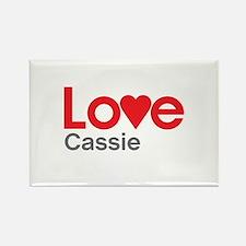 I Love Cassie Rectangle Magnet
