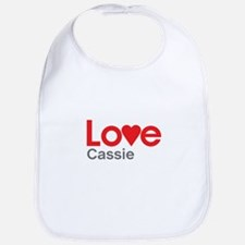 I Love Cassie Bib