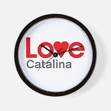 I Love Catalina Wall Clock