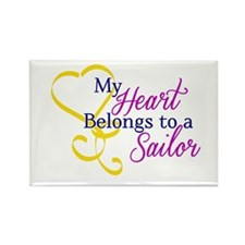 My Heart Belongs to a Sailor! Rectangle Magnet