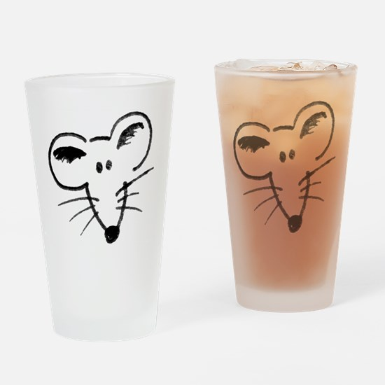 Rat Face Drinking Glass