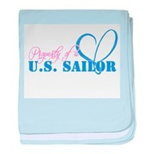 Property of a U.S. Sailor baby blanket