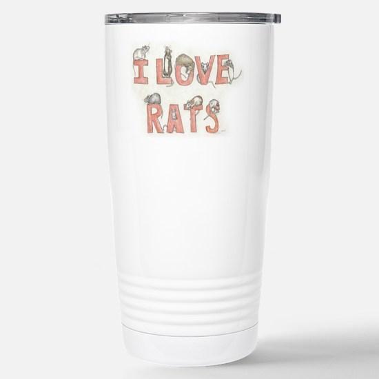 I LOVE RATS Travel Mug