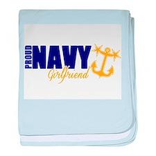 Proud Navy Girlfriend! baby blanket