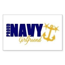 Proud Navy Girlfriend! Decal