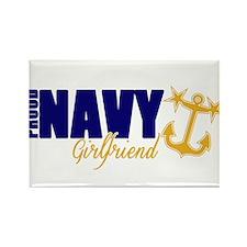 Proud Navy Girlfriend! Rectangle Magnet