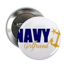 """Proud Navy Girlfriend! 2.25"""" Button"""