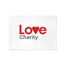 I Love Charity 5'x7'Area Rug