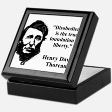 Disobedience Is The True Foundation - Thoreau Keep