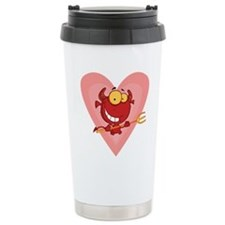 Pitchfork Devil Love Travel Mug