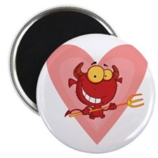 "Pitchfork Devil Love 2.25"" Magnet (10 pack)"