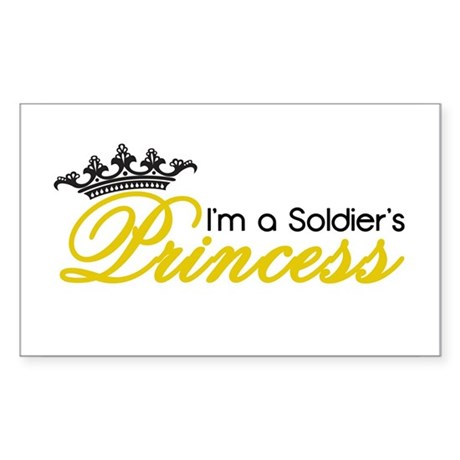 I'm a Soldier's Princess! Sticker (Rectangle)