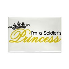 I'm a Soldier's Princess! Rectangle Magnet