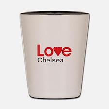 I Love Chelsea Shot Glass