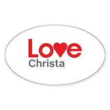 I Love Christa Decal