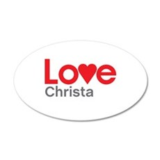 I Love Christa Wall Decal