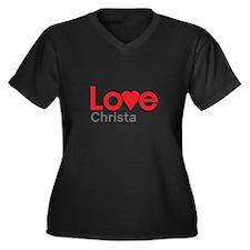 I Love Christa Plus Size T-Shirt