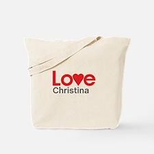 I Love Christina Tote Bag