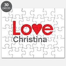 I Love Christina Puzzle
