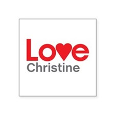 I Love Christine Sticker
