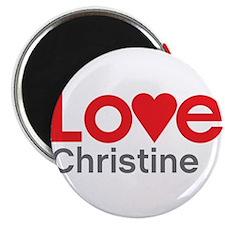 """I Love Christine 2.25"""" Magnet (100 pack)"""