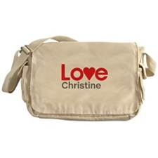 I Love Christine Messenger Bag