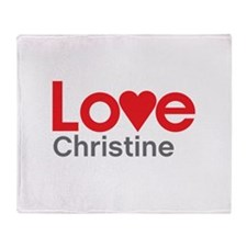 I Love Christine Throw Blanket