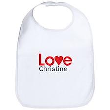 I Love Christine Bib
