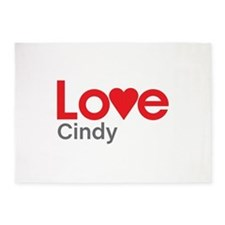 I Love Cindy 5'x7'Area Rug