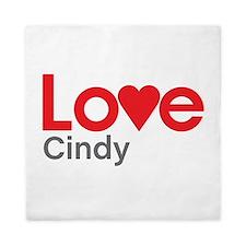 I Love Cindy Queen Duvet