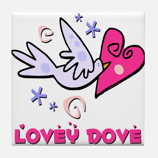 Lovey Dove Tile Coaster