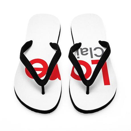 I Love Claire Flip Flops