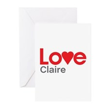 I Love Claire Greeting Cards (Pk of 10)