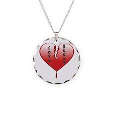 Love Sucks Broken Heart Necklace
