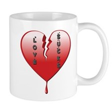 Love Sucks Broken Heart Mug