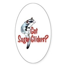 Sugar Glider Oval Decal